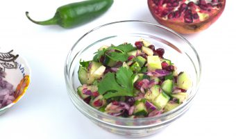 Cucumber-Pomegranate Salsa